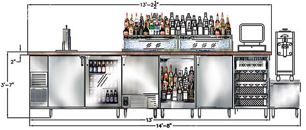 Bar design for Restaurant layout design